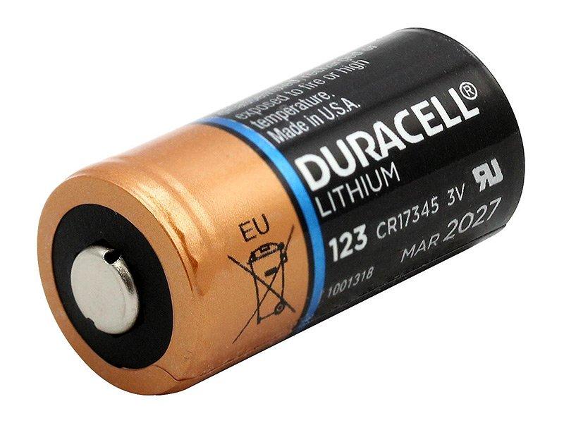 Detail der CR123 Batterie