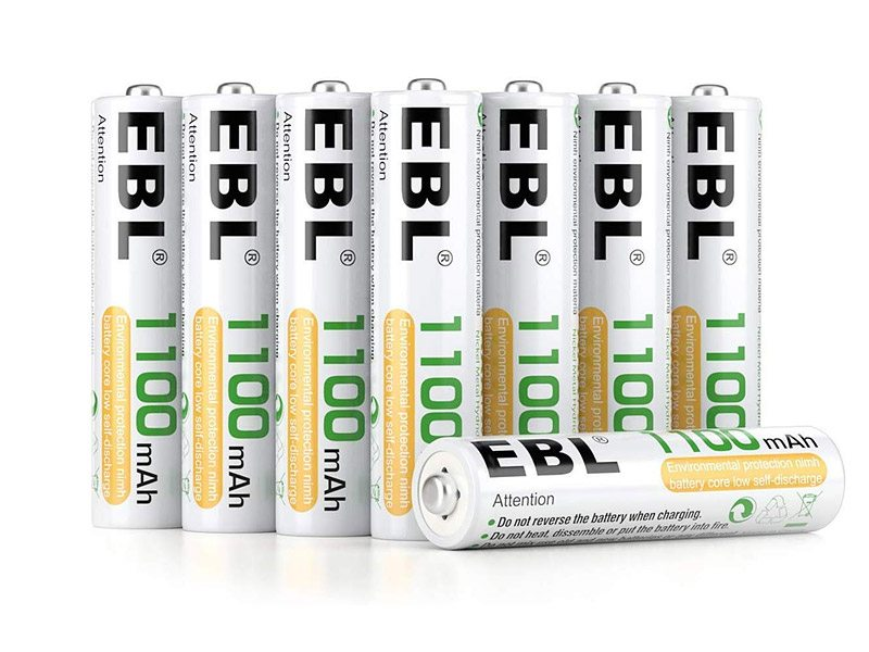 EBL Piles rechargeables AAA 1100mAh
