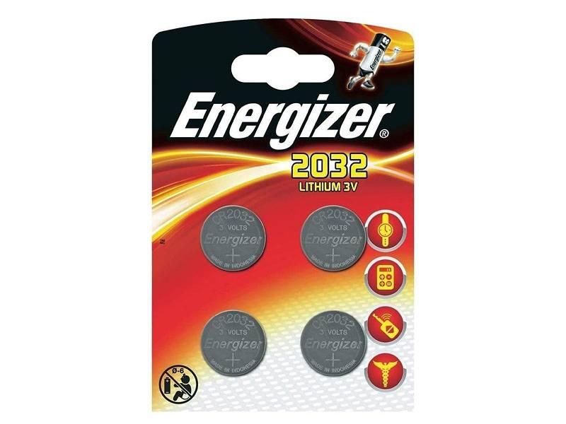 Energizer Batterien CR2032 Knopfzelle