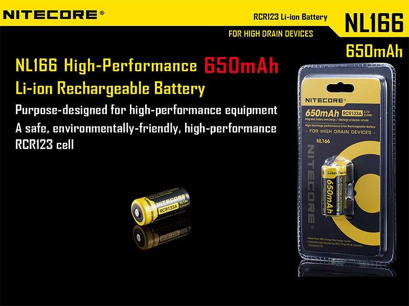 Eine leistungsstarke 16340er Batterie